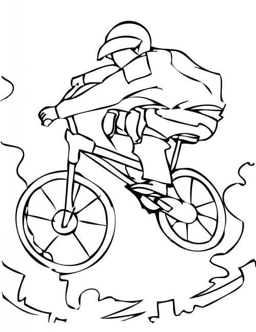 نقاشی و رنگ آمیزی دوچرخه