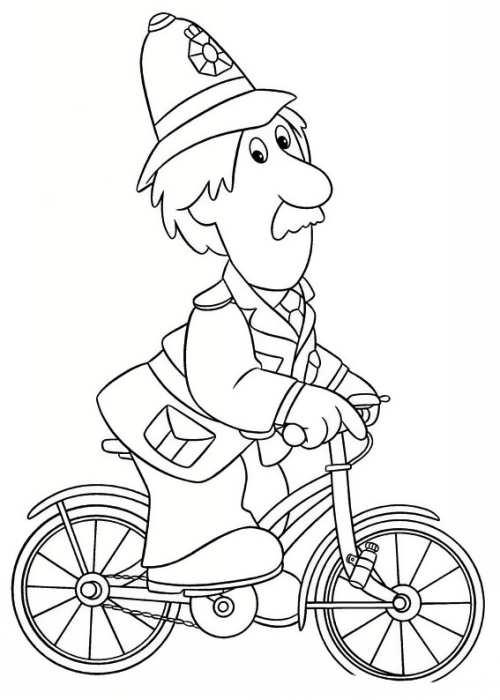 نقاشی پیرمرد و دوچرخه
