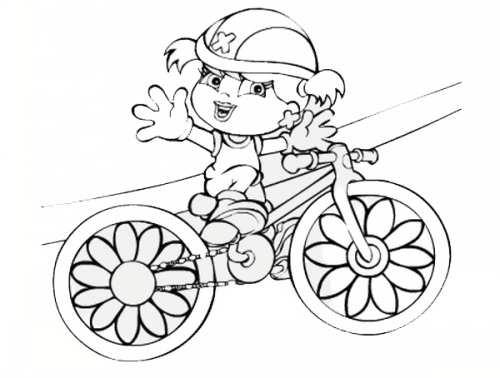 نقاشی و رنگ آمیزی دوچرخه برای کودکان