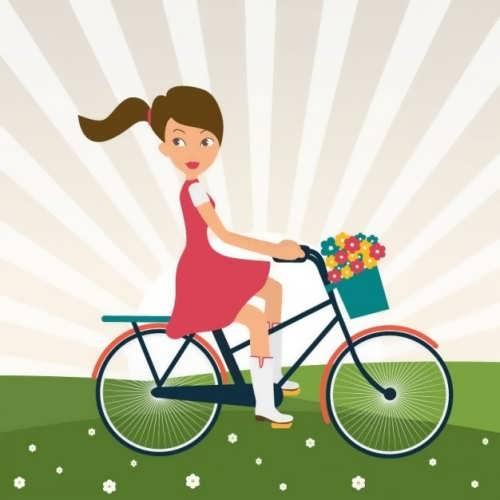 نقاشی زیبا و فانتزی دوچرخه