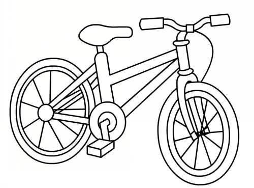 نقاشی ساده و زیبا دوچرخه سواری