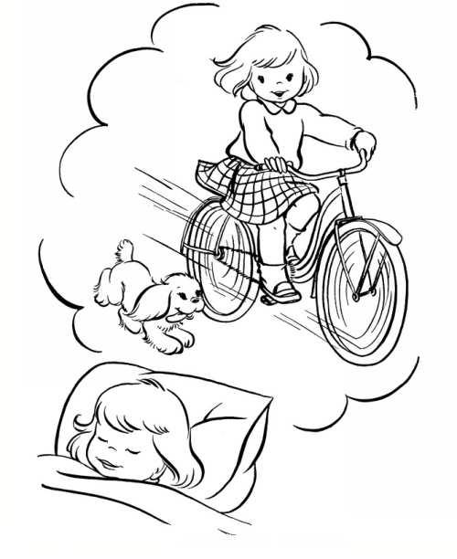 نقاشی کودکانه و فانتزی دوچرخه