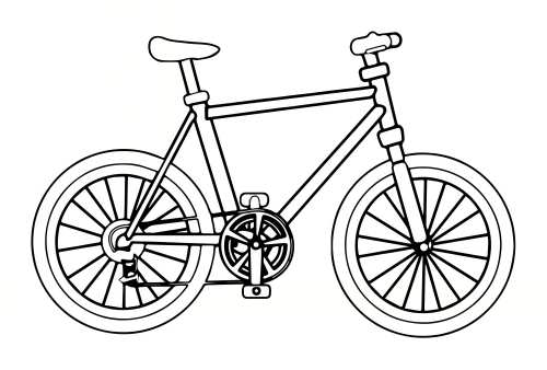 نقاشی ساده دوچرخه