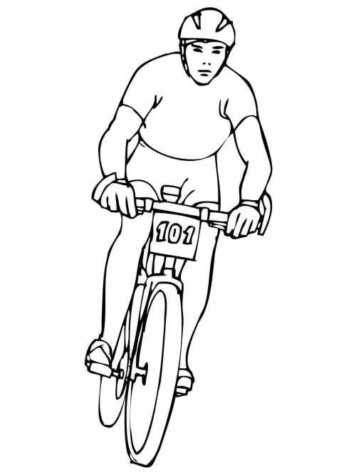 نقاشی و رنگ آمیزی دوچرخه سوار
