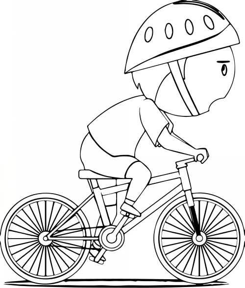 نقاشی کودکانه دوچرخه