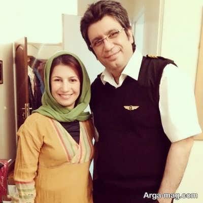 رضا رشید پور در کنار لیلی رشیدی
