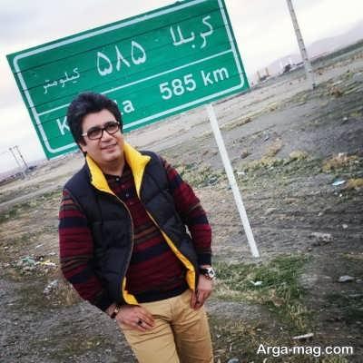 رضا رشیدپور در راه کربلا