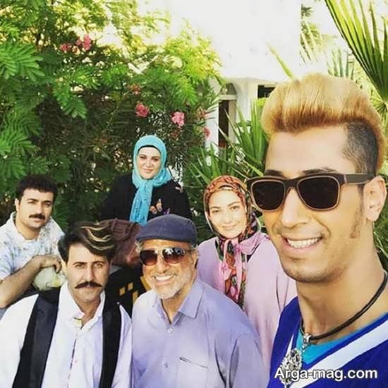 فهیمه در کنار بازیگران سریال پایتخت