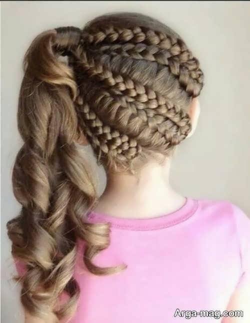 شینیون مو دخترانه زیبا