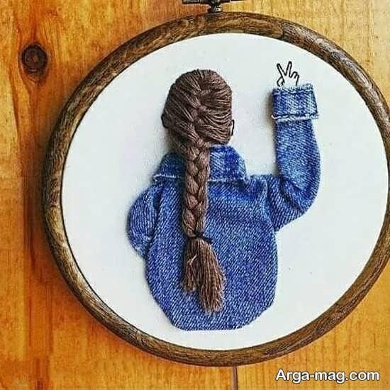 طرحی زیبا از گلدوزی برای کودکان