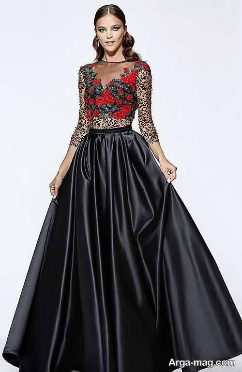 مدل لباس مجلسی دو تیکه بلند