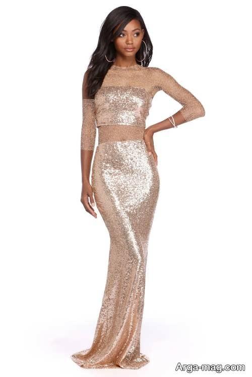 مدل لباس مجلسی بلند دو تیکه