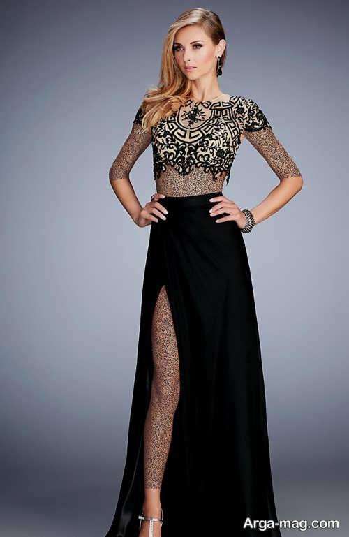 مدل لباس مجلسی شیک و دو تیکه