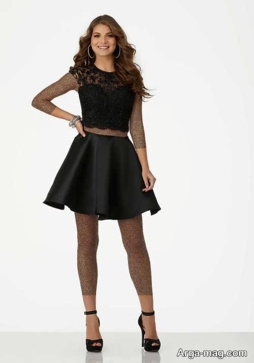 مدل لباس مجلسی دو تیکه مشکی