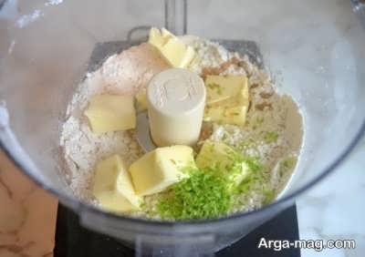 اضافه کردن کره و پودر پسته