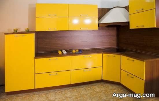 دیزاین متفاوت کابینت گوشه آشپزخانه