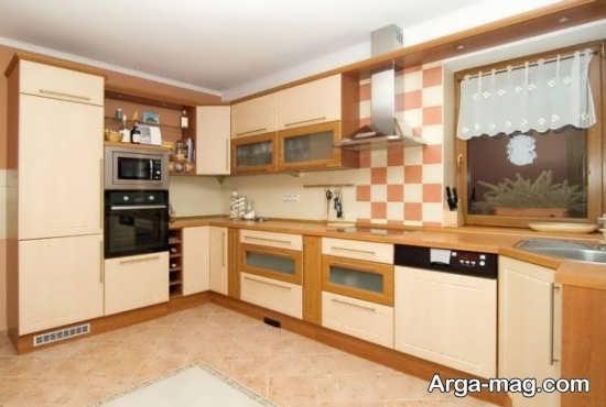 دیزاین کابینت گوشه آشپزخانه