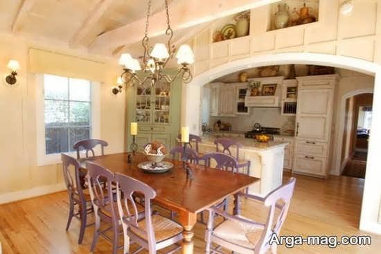 مدل زیبای کابینت گوشه آشپزخانه