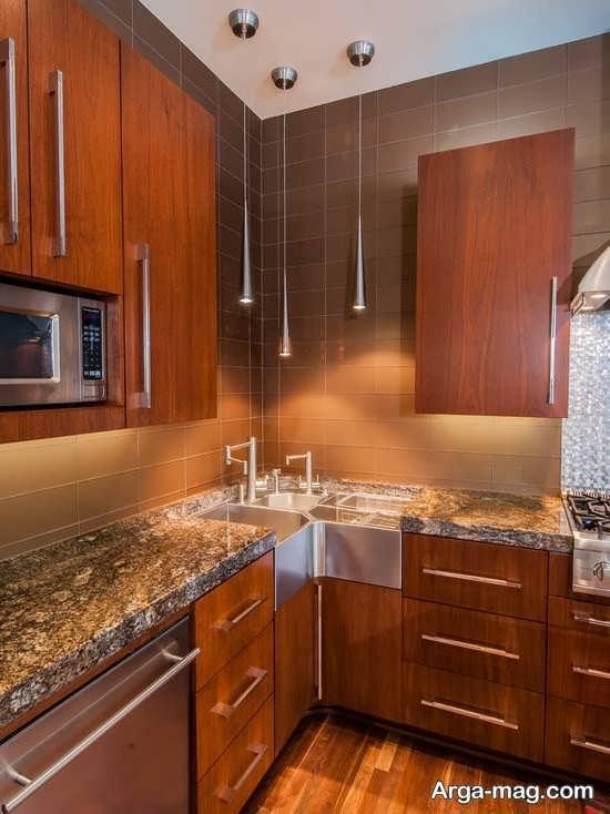 مدل گوشه کابینت آشپزخانه