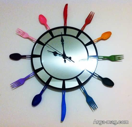 تزیین ساعت با قاشق یکبار مصرف
