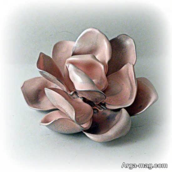 ساخت گل با قاشق پلاستیکی