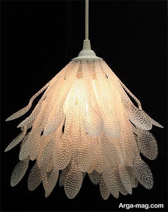 ساخت لامپ تزیینی با قاشق پلاستیکی