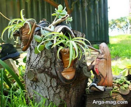خلاقیت خارق العاده با کفش کهنه