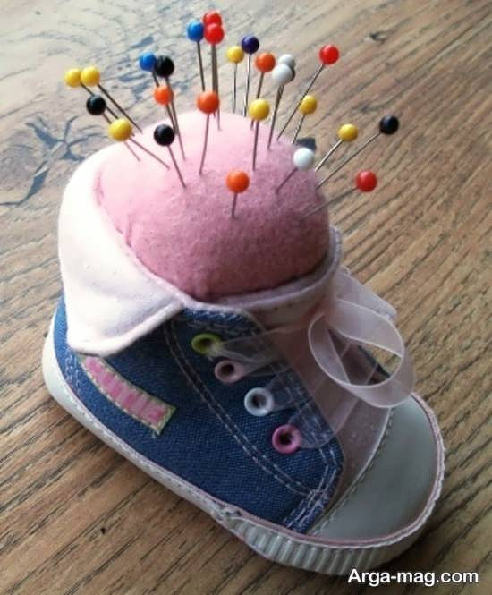 کاردستی زیبا با کفش کهنه