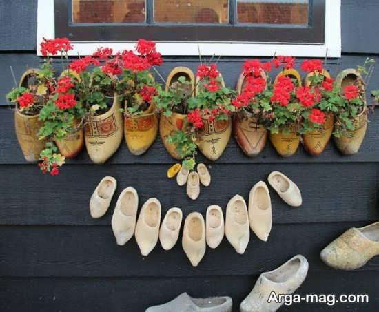 ساخت گلدان های کفشی