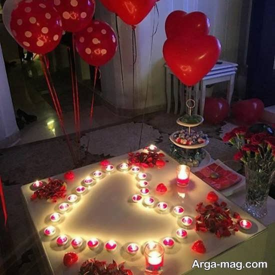 تزیین منزل عروس با شمع و گل