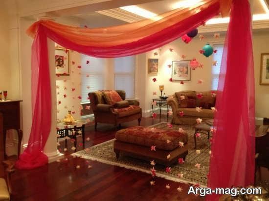 تزیین سالن پذیرایی عروس