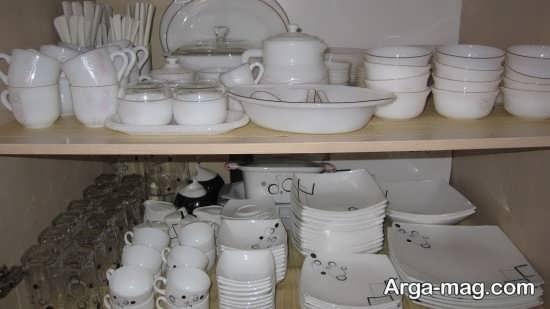چیدمان و تزیین وسایل آشپزخانه عروس
