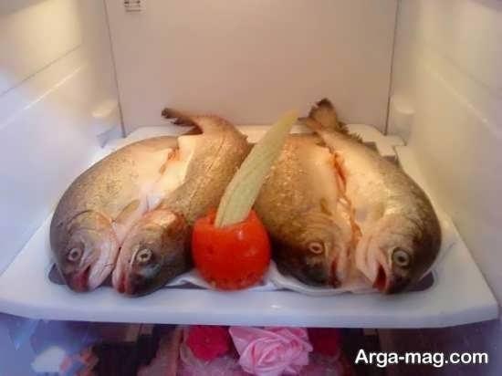 تزیین ماهی برای یخچال عروس
