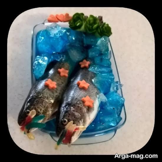 تزیین متفاوت ماهی یخچال عروس