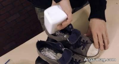 پودر بچه برای رفع بوی بد کفش