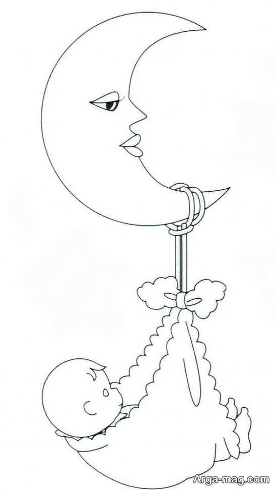 طرح گلدوزی ماه