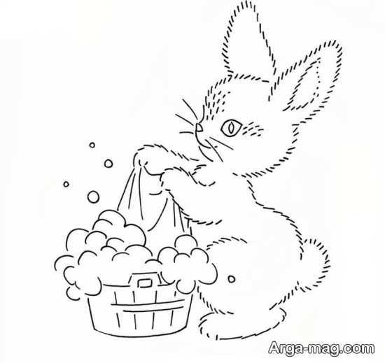 طرح گلدوزی خرگوش