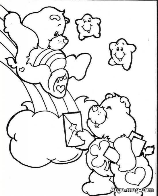 طرح گلدوزی کودکانه خرس