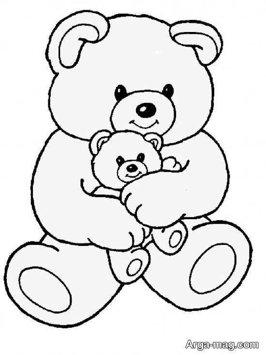 طرح گلدوزی خرس بامزه