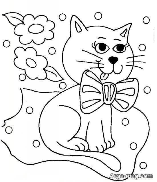 طرح گلدوزی گربه