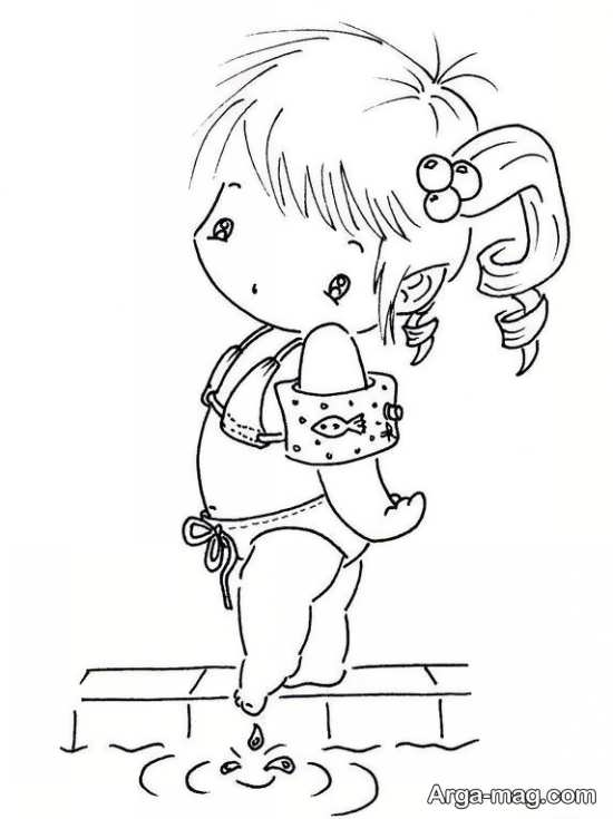طرح گلدوزی بچه گانه دخترانه