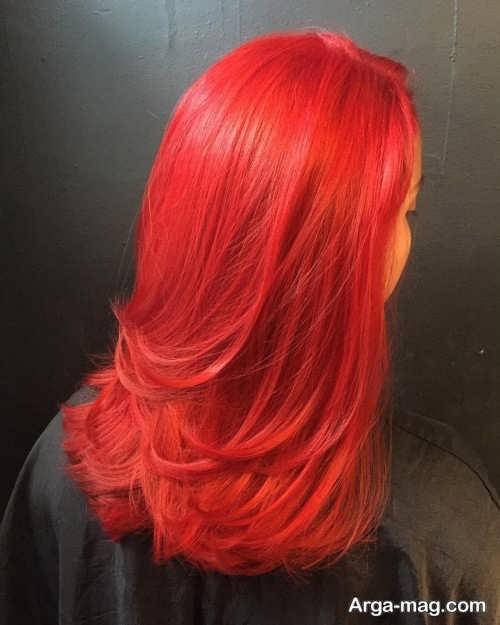 رنگ مو قرمز آتشی
