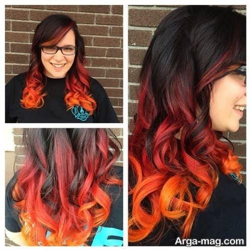 رنگ موی آتشی زنانه