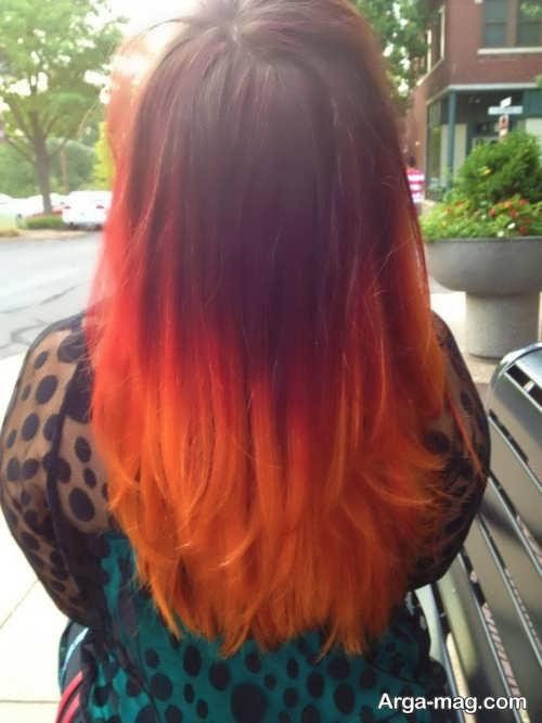 رنگ موی شیک و متفاوت آتشی