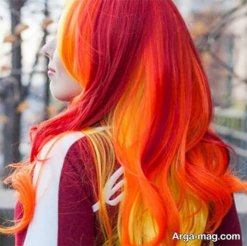 رنگ مو جدید و زنانه آتشی