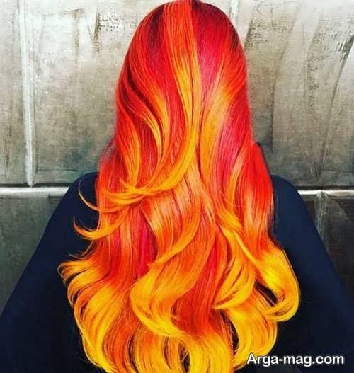 رنگ موی فانتزی آتشی