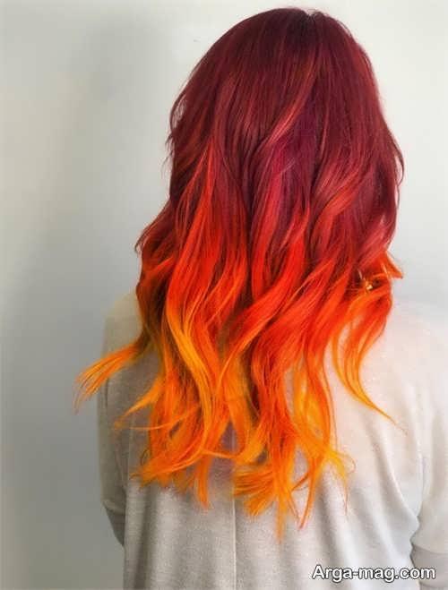 رنگ مو آتشی زنانه