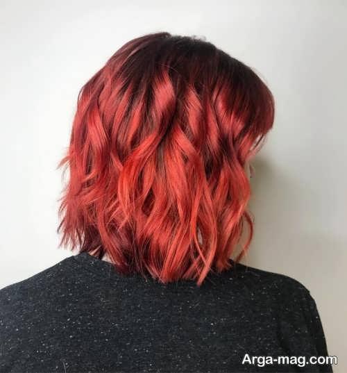 فرمول رنگ موی قرمز آتشی بدون دکلره