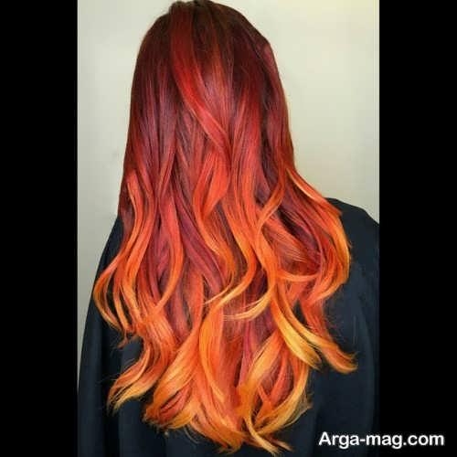 رنگ موی آتشی