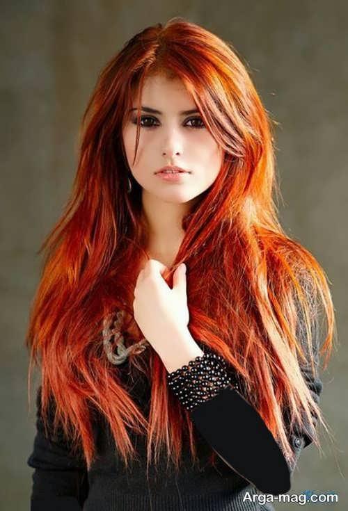 رنگ موی دخترانه آتشی